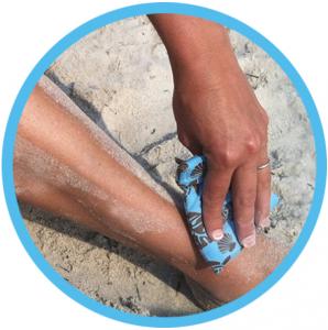 Brush Off Sand Baby Powder Bag Beach Bag Kids Beach Baby Powder Sand Bag Palm Tree Bag Beach Remove Sand Brush Sand Sand off